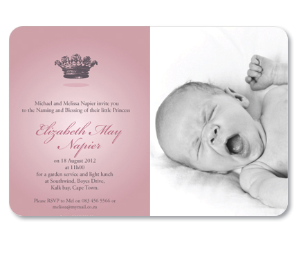 MACAROON ~ Personalised Naming Ceremony Invitations