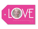 LOVE Snap Pink - Tag set