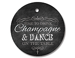 Drink Champagne and Dance on the Table - black - Gift Tag Set
