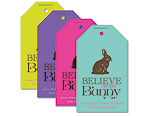 Believe Bunny - Personalised tag set