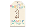 Easter Bunting - Personalised tag set
