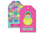 Babushka Bright Personalised Tags