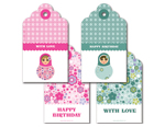 Girl Babushka Doll Tag Set