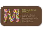 Spring Monogram Address Stickers
