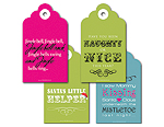 Quirky Christmas Tag Set