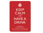 'Keep Calm and Have A Drink' Invitation