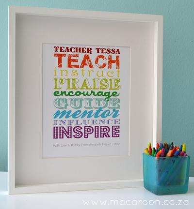 Personalised Teacher Posters