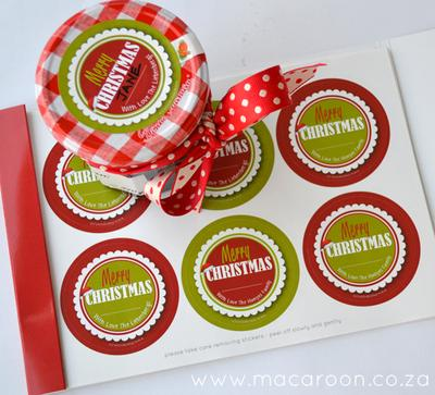 Christmas Round Stickers