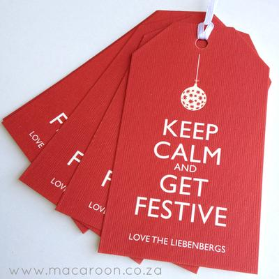Festive Personalised tags