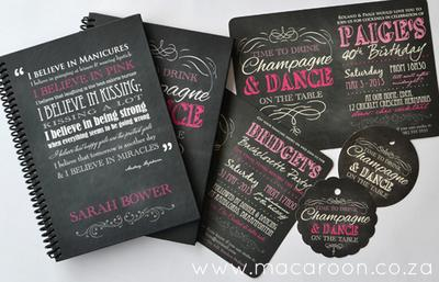 Personalised Dance on the Table Stationery
