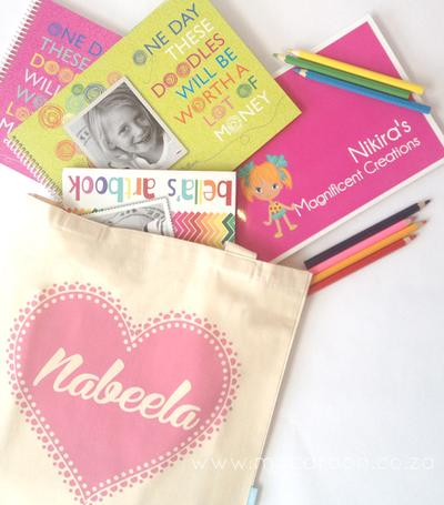 Personalised Heart Totes