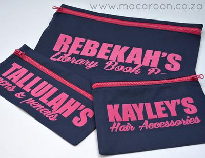 Personalised Zip Bags