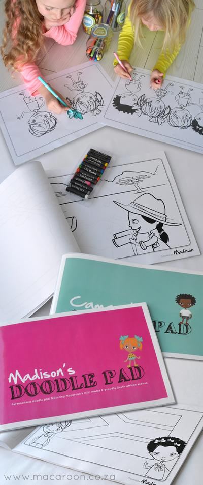 Personalised South African Doodle Pads