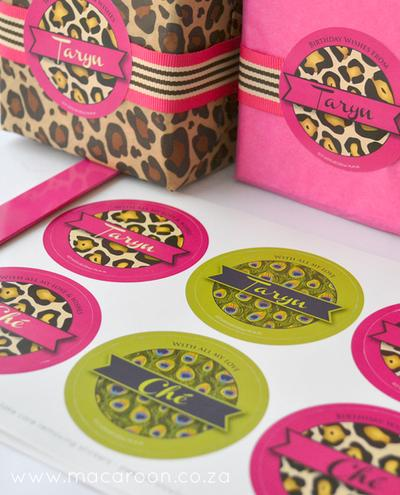 Personalised Round Gift Stickers