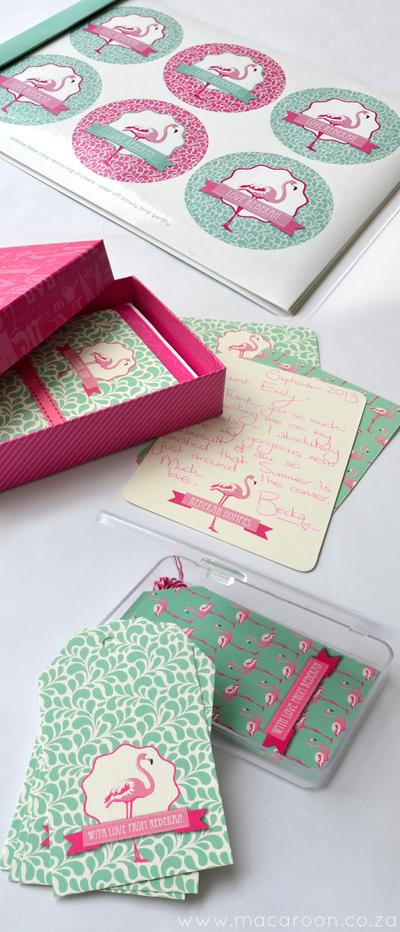 Personalised Flamingo Stationery