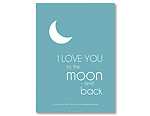 Moon & Back - Blue