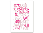 Star Light Star Bright - White/Pink