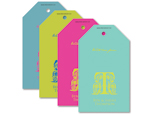 Mardi Gras Monogram Personalised Gift Tags