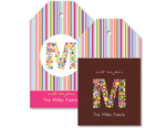 Spring Monogram Personalised Tags
